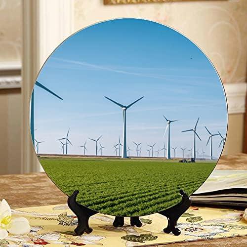 ALALAL Offshore Windmill Farm in Plates Colorf Ocean Ceramic Memphis Mall San Antonio Mall The