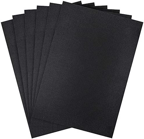 Pllieay 6 Pieces 14 Count Black Classic Reserve Aida Cloth Cross Stitch Cloth 12 by 18 Inch product image