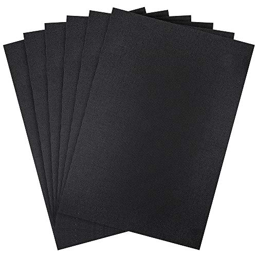 Pllieay 6 Pieces 14 Count Black Classic Reserve Aida Cloth Cross Stitch Cloth, 12 by 18 Inch (Black)
