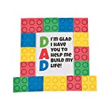 Fun Express Dad Brick Tabletop Decorating with Easel Craft Kit - Makes 12 - DIY Father's Day Craft Gifts for Kids