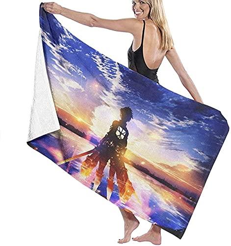 Hunter×Hunter Toalla de playa super absorbente, suave y cómoda Dracula Gon Freecss toalla de baño para fitness, viajes, picnic (Hunter 3, 90 cm x 180 cm)