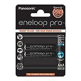 Panasonic eneloop pro, Ready-to-Use Ni-MH Akku, AAA Micro, 2er Pack, min. 930 mAh, 500 Ladezyklen, mit extrastarker Leistung & geringer Selbstentladung, wiederaufladbare Akku Batterie, Akkubatterie