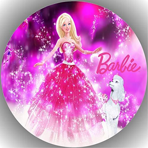 Fondant Tortenaufleger Tortenbild Geburtstag Barbie T4