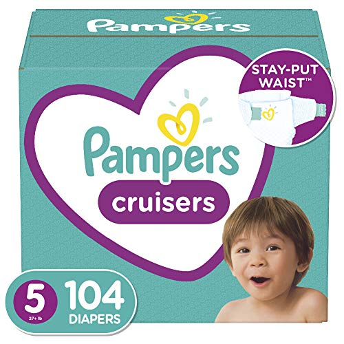 Diapers Size 5 104 Count  Pampers Cruisers Disposable Baby Diapers Enormous Pack