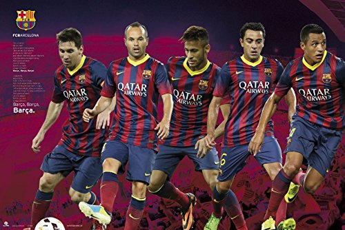 Barcelona FC | Players Montage Poster | Exceptional Close-Out Value!