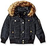 Rocawear Girls' Little Heavyweight Bomber Jacket, Black, 6X