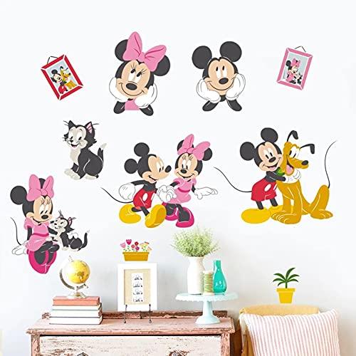 PUYIQARE 40X60Cm Dibujos Animados Mickey Minnie Mouse Pluto Gato Pared decoración del hogar Sala de Estar Disney Pared calcomanías PVC Mural Arte DIY Papel Tapiz