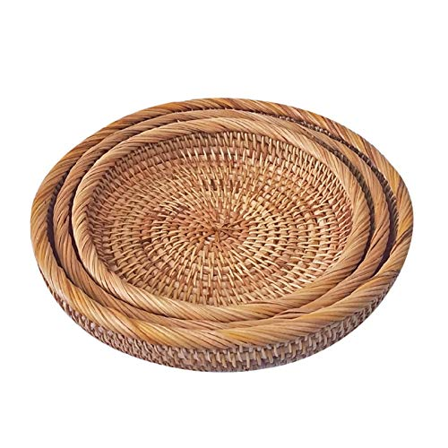CarPET Cesta de mimbre tejida a mano, creativa cesta de almacenamiento de dulces, bandeja para aperitivos de frutas, decoración del hogar, tejida de mimbre.