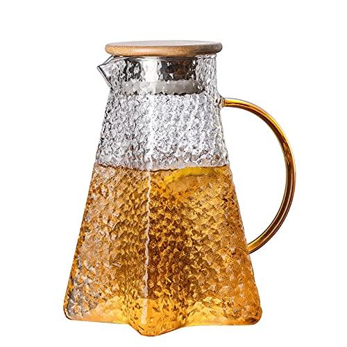 Botella de Agua Mineral, Tetera de Cristal, Fresco Transparente, Hermosa, Utilizado para Bebidas Frías, Té, Bebidas,F