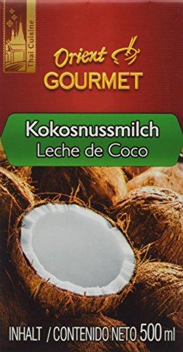 ORIENT GOURMET Kokosnussmilch – Cremige Milch mit typischem Kokosgeschmack – Authentisch thailändische Küche – 4 x 500 ml