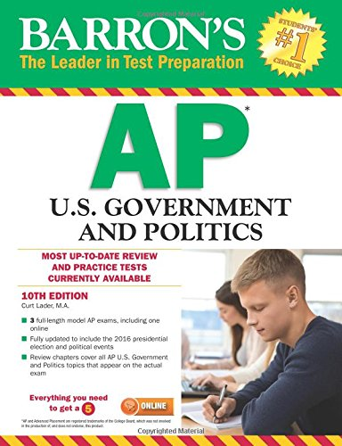 Barron's AP U.S. Government and Politics, 10th Edition
