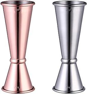 Lifreer 2 piezas de alcohol medidas 30/60 ml jarra de cóctel Daul taza de medición para bar, fiesta, vino, cóctel, bebida,...