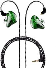 BASN in Ear Monitor Headphones Singer Earphones Noise-Isolating Comfort Earbud for Musicians (BC100 ClearGreen)
