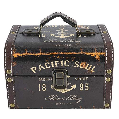 Caja de Almacenamiento de Joyas, joyero Vintage, Delicado y Duradero Adorno Retro y nostálgico práctico para el hogar(Big)