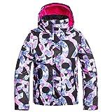 Roxy Jetty Girl-Veste de Ski/Snowboard Fille 8-16 Ans, True Black Famous Alphabet, FR (Taille...