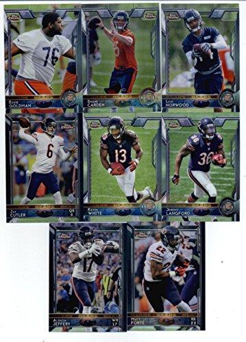 2015 Topps Chrome Football Chicago Bears Team Set of 8 Cards: Matt FortΘ, Alshon Jeffery, Jay Cutler, Kevin White, Jeremy Langford, Eddie Goldman, Shane Carden, Levi Norwood Snap Case