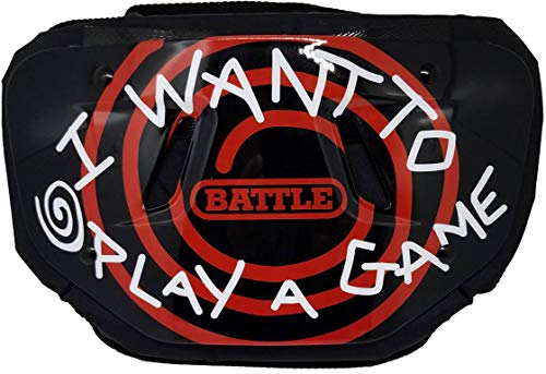 """Battle """"Want to Play a Game Chrome Football Back Plate - Adult"""