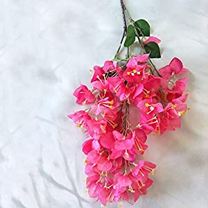 Artificial and Dried Flower Artificial Flower Bougainvillea Flower Indoor Decoration Simulation Bougainvillea Bouquet Fake Silk Flower Home Party Desk Decor