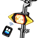 Color You Bike Tail Light with Turn Signals, USB Rechargeable Rear Light for Bicycle, Wireless Remote Control Waterproof Cycling Light, Safety Warning Bike Brake Lights-Easy Installation