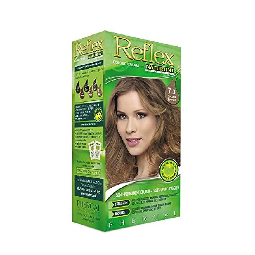 上げる大惨事十Naturtint Reflex Non Permanent Colour Rinse 7.3 Golden Blonde (Pack of 6) - Naturtint反射非永久的な色7.3金色のブロンドをすすぎます (x6) [並行輸入品]