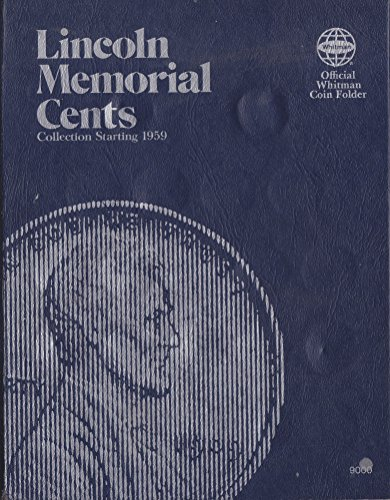 1959-date (1989) LINCOLN MEMORIAL CENTS WHITMAN No 9000 COIN; ALBUM BINDER BOARD BOOK CARD COLLECTION DISPLAY FOLDER…