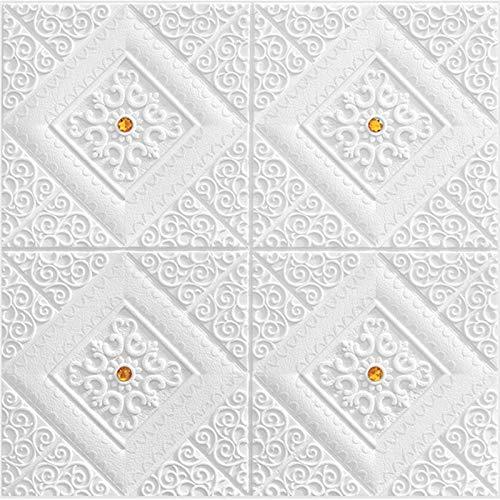 Piedra de Ladrillo Paneles de Pared Autoadhesivos Papel pintado de ladrillo 3D Papel extraíble autoadhesivo Pegatinas de techo de auto-cargando Techo Papel tapiz para niños Habitación Inicio Oficina D