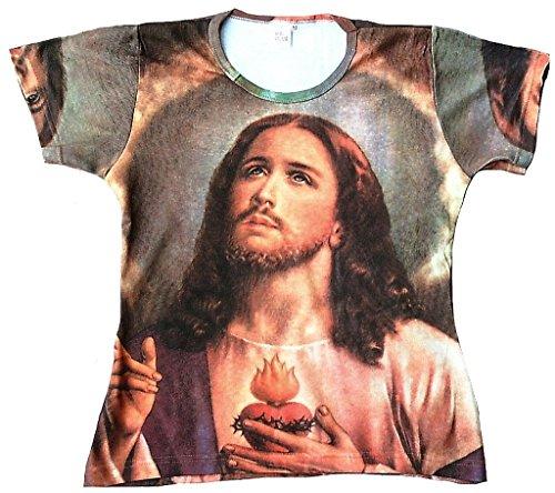 TICILA Camiseta para Mujer diseño de Jesucristo, Cristo, Mesías, Pap