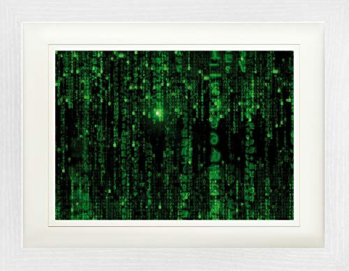 1art1 Matrix - Código Matrix, Lluvia Digital Póster De Colección Enmarcado (40 x 30cm)