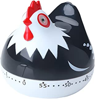 SYCYKA Novelty Kitchen Timer Mechanical Rotating Alarm for Cooking, Baking (Chicken)