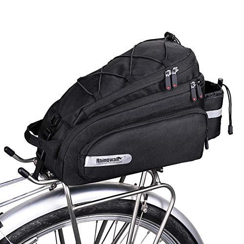 PELLOR Fahrrad Gepäcktaschen, Fahrradtasche für Gepäckträger Wasserdicht 3in1 Gepäckträgertasche Fahrradkorb Schulter Handtasche Reisesporttasche mit Flaschentasche und Regenschutz,12L