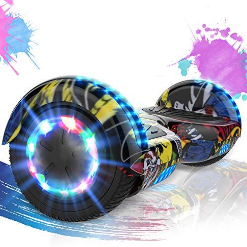 SOUTHERN WOLF Hoverboards, Hoverboard niños, de 6,5 Pulgadas con Luces LED de Rueda de Colores, Hoverboard electrico con Motor de 2 * 350W, Hoverboard Kart con Bluetooth, Regalos para niños