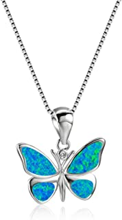 Butterfly Necklaces, 14K White Gold Butterfly Pendant...
