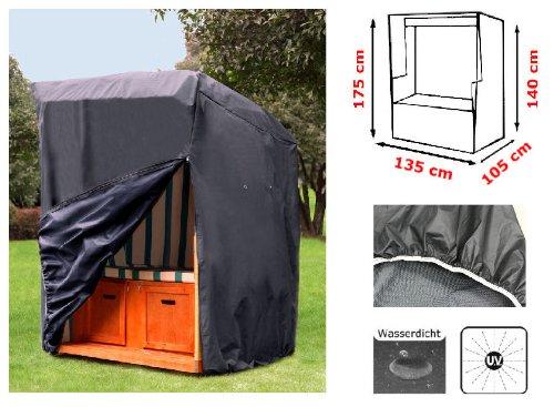 Kronenburg Schutzhülle Strandkorb aus 420 D Oxford Gewebe - Abdeckung für Gartenmöbel - 7