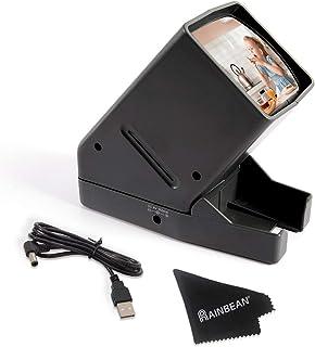 RAINBEAN USB Powered 35mm Negative Slide Film Viewer, Old Slides Scanner Portable LED Lighted Negative Viewing – 3X Magnif...