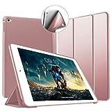 VAGHVEO Funda iPad Air 2, Ligera Silicona Soporte Smart Cover [Auto-Sueño/Estela], Cubierta Trasera de TPU Suave Cáscara para Apple 9.7 Pulgadas iPad Air 2 (Modelo: A1566, A1567), Oro Rosa