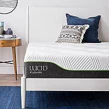 LUCID 12 Inch Latex Hybrid Mattress - Memory Foam - Responsive Latex - Steel Coils - Firm Feel - Temperature Neutral