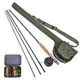 Lixada Fly Fishing Rod and Reel Combo with Carry Bag & 20 Flies -...