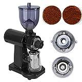 Moulin à café conique de bavure, machine de meulage électrique de grain de moulin de café pour l'usage commercial de ménage(Noir)