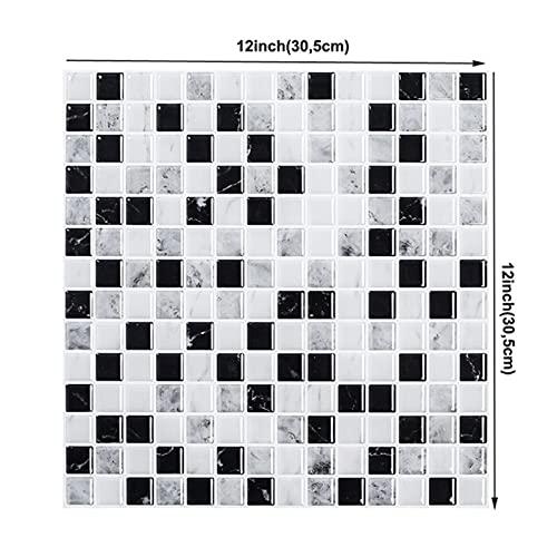 Pegatinas de pared Mosaico auto adhesivo Baño de cocina Azulejo pegatinas Backsplash Pegatina de pared 3-D DIY Decoración para el hogar A prueba de aceite Etiquetas de pared a prueba de agua Impermeab