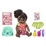 Baby Alive Potty Dance Baby: Talking Baby Doll with Black Curly Hair, Potty, Rewards Chart, Undies and More, Doll That Pees on Her Potty, for Girls and Boys 3 Years Old And Up