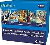 CD WISSEN Junior - TATORT FORSCHUNG - Sammelbox. Abenteuer berühmter Forscher und Entdecker, 10 CDs