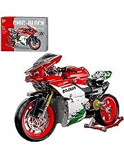ZCXX 803-delige techniek motorcycle Custom Race Motorcycle Bouwset Off Road Motorbike Model Bouwpakket Compatibel met Lego Technic