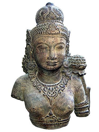 Seestern Sportswear Dewi Tara Garten Statue 50 cm Hindu Asia Deko Figur Steinguss für innen & außen braun antik /1886