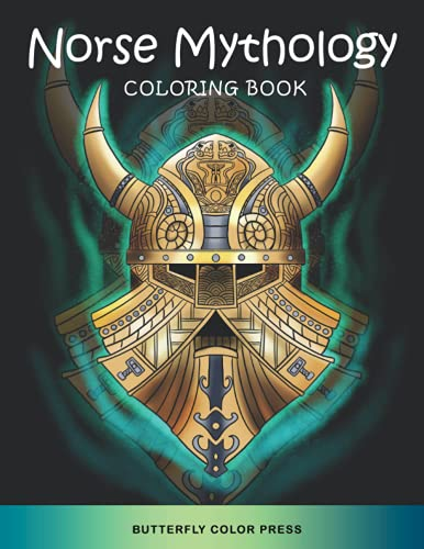 Norse Mythology Coloring Book: Adult Coloring Book with Amazing Designs for Relaxation and Fun (Mythology Coloring Books)