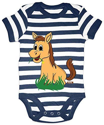 HARIZ Body para bebé con diseño de caballo frisado con animales de...