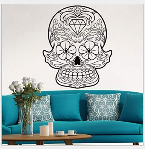 Ymran schedel persoonlijkheid creatieve ramen slaapkamer woonkamer kinderkamer wanddecoratie afneembare waterdichte muursticker 58 * 70 cm