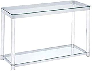 Coaster Home Furnishings Claude Rectangular Sofa Table with Shelf Clear