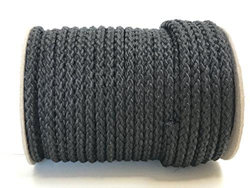 Viva Nature 25m Rolle 8 mm Polypropylen-Seil PP-Seil Flechtleine Tau-Werk Reepschnur Festmacher Schnur Universalseil (schwarz)