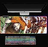 RGB-Mauspad Levi Mousepad 3D-Gaming-Mauspad PC Computer-Gamer-Zubehör Große Matte HD-Muster Laptop-Schreibtisch-Schutzpads CS (30 x 60 cm)