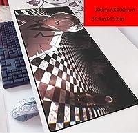 ゲーミングマウスマットラージマウスマット ソードアート・オンラインキリトアスナ90x40アニメ3ミリメートルマウスパッド第二の要素特大のキーボードパッドキーボードパッド、Q. キーボードマウスパッド (Color : D)